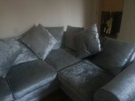 six month old corner unit siver very good condition