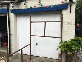 Hormann white framed garage door Series 2000 70x66