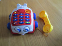 EDUCATIONAL BABY TOY - LITTLE MUSICAL TELEPHONE - VGC