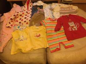 Huge Job lot girls clothes 3- 12 months and 1 to 2 years.