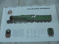 VINTAGE POSTER/ PICTURE OF FLYING SCOTSMAN TRAIN