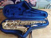 P.Mauriat Le Bravo Tenor Saxophone. With original; case, neck strap, and mouthpiece.