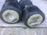 26 kg pair of escape dumbbells