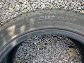 Two Hankook Winter Tyres 225/45R17 94V
