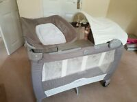 *SOLD SUBJECT TO COLLECTION* Excellent condition travel cot from a pet & smoke free home.