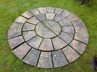 Indian Stone Patio Circle - used