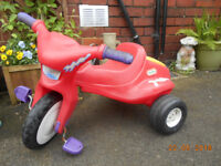 little tikes chunky trike clean used condition
