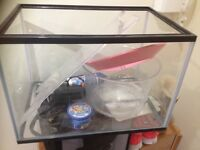 Fish tank with air pump etc