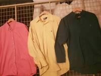 1 YvesSaintLaurent coral shirt, 2 Ralph Lauren shirts