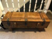 Rustic coffee table/ storage chest