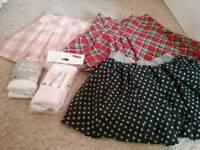 Girl's skirt and tight bundle 4-5yrs