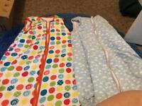 6 sleeping bags 0-6 months