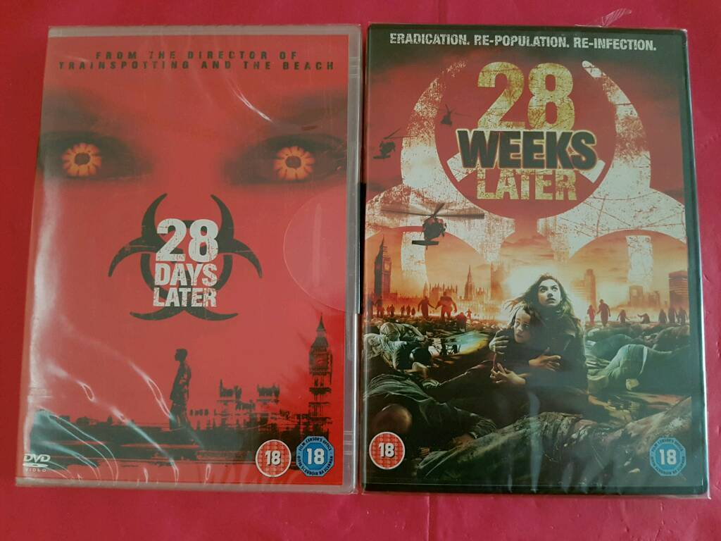 28 Days + 28 Weeks Later DVDs