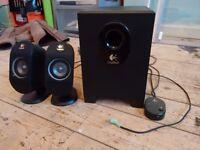 Logitech X 210 2.1 25 Watt RMS PC Speaker System