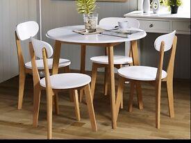 Brand New White/Oak Dining Set