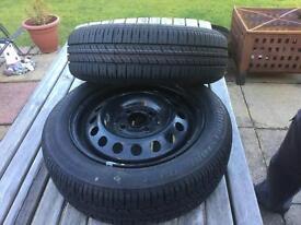 2 Brand New Bridgestone Tyres on Brand New MICRA Rims 165/60/14