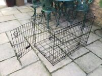 Black Dog Cage - folds flat with side opening H25in/64cmW36in 92cmD22.5in/57cm
