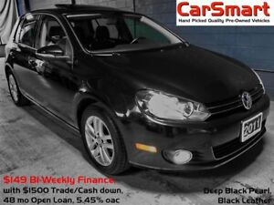 2011 Volkswagen Golf 2.5L Highline, Leather, S.Roof, Bluetooth P