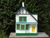 Vintage 1950s painted wooden dolls house