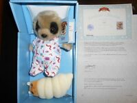 Genuine 'Meerkat' Toy with Adoption Certificate - Baby Oleg