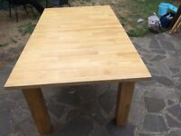 Tuscany Solid Oak Table, for six people, Good Condition, six years old (paid £350)