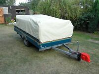 Raclet Jasmin trailer tent with awning and extension awning and extras.