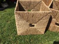 4x wicker type boxes