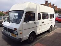 VW LT35E campervan - 1988 - petrol - 2400 - low mileage - LEZ compliant - MOT till May 2017