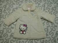Brand new Hello Kitty fur coat 1 1/2-2 years