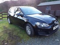 2014 VW Golf S Bluemotion 1.6 TDI, Black, Low Mileage, 5 Door
