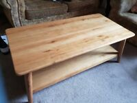 Solid Oak Coffee Table Excellent Condition
