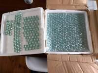X5 Glass bead tiles on net backing. Approx.30cm x 30cm