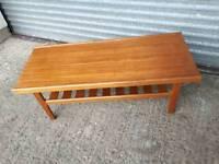 Mid century retro teak coffee table