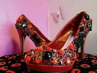 Customised Dorothy Perkins high heels.