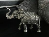 Silver mirrored and diamonte bling elephant ornament (brand new!) rrp £75