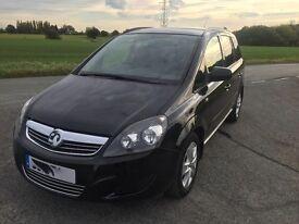 Vauxhall Zafira 1.6 i VVT 16v Excl 5dr in black 13 reg REDUCED