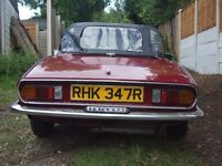 Triumph Spitfire 1500, good runner, some welding required,ideal winter project ! Lots of new parts.