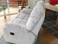 almost new two seater reclining sofa for sale