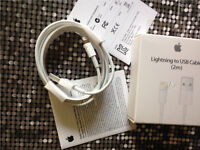 WHOLESALE 50x Genuine Apple USB Lightning Sync Charger Data Cable (2 Meter) for iPhone 5 6 iPad/iPod