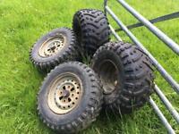 Honda TRX 250 fourtrax wheels & tires (breaking full quad)