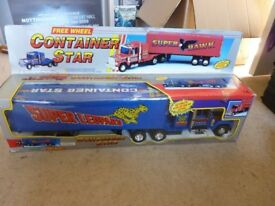 toy Lorry Collectible / Playable (boxed), Free Wheel Container Star