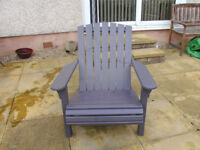 HAND BUILT ADIRONDAK GARDEN LAWN CHAIR