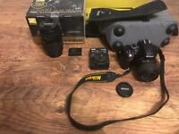 Nikon D3200 + 200mm Tamron lens + all original accessories and packaging