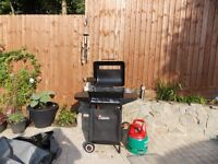 LANDMANN GAS BARBEQUE with cover, gas bottle & utensils