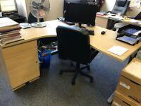 Office desks x 4 size 160 x 160 cm £99.00 pound each or ONO