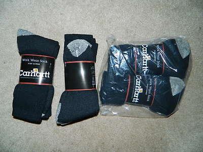 carhartt socks 12 pairs black sock crew w/grey toe & heel La