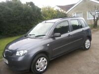 MAZDA 2. 1-2 S 5-DOOR 2004. ONLY 65,000 MILES WITH VAST SERVICE HISTORY. 12 MONTHS MOT, ANY TRIAL.