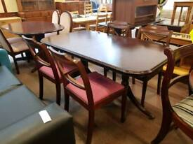 Large extendable table with 4 chairs