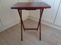 Folding Wooden Table in Mahogany