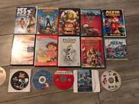 16 children's kids DVDS films movies Frozen Shrek Cars Monsters University Ice Age 2 Smurfs